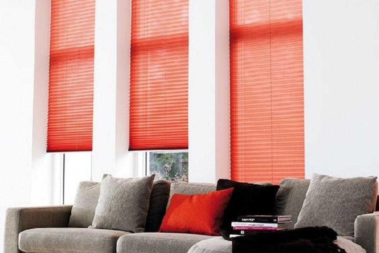cortinas plisadas modelo rojo