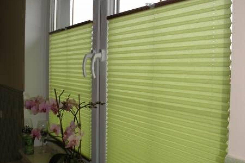 cortinas plisadas modelo verde
